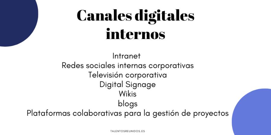 Canales digitales internos